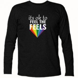 Koszulka z długim rękawem It's ok to feel the feels