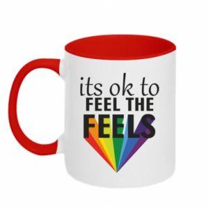 Kubek dwukolorowy It's ok to feel the feels