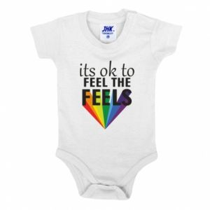Baby bodysuit It's ok to feel the feels