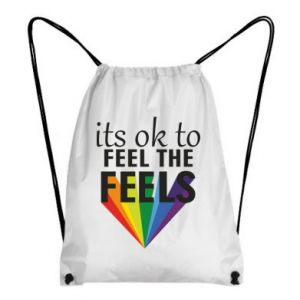 Backpack-bag It's ok to feel the feels