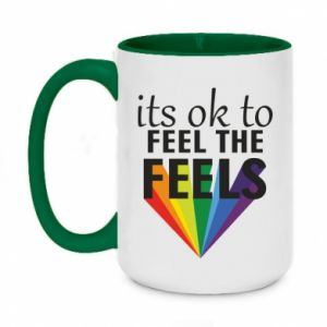 Two-toned mug 450ml It's ok to feel the feels