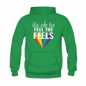 Kid's hoodie It's ok to feel the feels