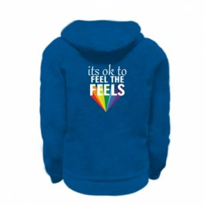 Kid's zipped hoodie % print% It's ok to feel the feels