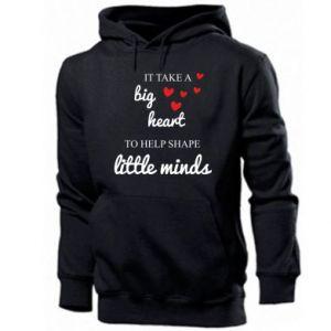 Bluza z kapturem męska It take a big heart to help shape little mind