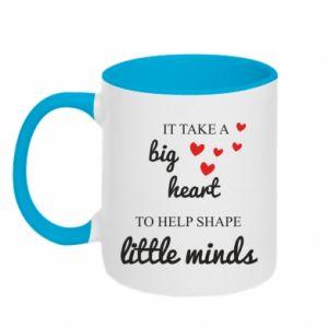 Kubek dwukolorowy It take a big heart to help shape little mind