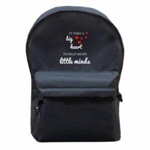 Plecak z przednią kieszenią It take a big heart to help shape little mind