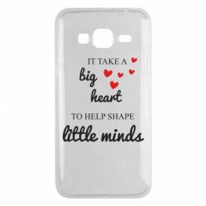 Etui na Samsung J3 2016 It take a big heart to help shape little mind