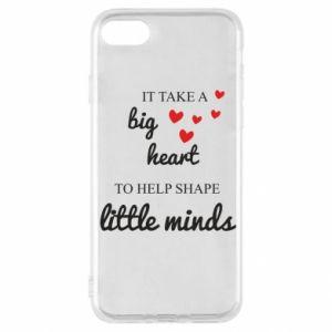 Etui na iPhone SE 2020 It take a big heart to help shape little mind
