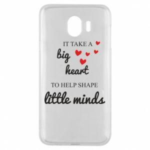 Etui na Samsung J4 It take a big heart to help shape little mind
