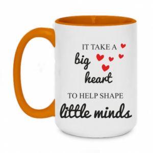 Kubek dwukolorowy 450ml It take a big heart to help shape little mind