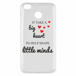 Etui na Xiaomi Redmi 4X It take a big heart to help shape little mind
