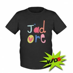 Koszulka dziecięca J'adore