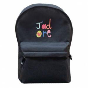 Plecak z przednią kieszenią J'adore