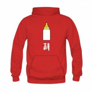 Bluza z kapturem dziecięca Ja i butelkę mleka