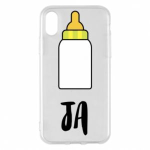 Etui na iPhone X/Xs Ja i butelkę mleka