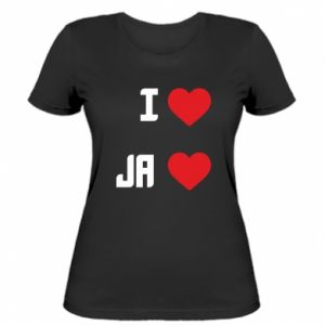Damska koszulka Ja i serce