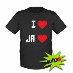 Dziecięcy T-shirt Ja i serce