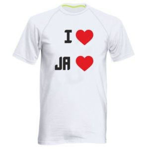 Męska koszulka sportowa Ja i serce