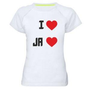 Damska koszulka sportowa Ja i serce