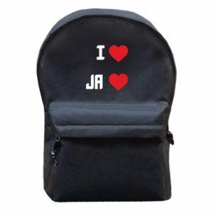 Plecak z przednią kieszenią Ja i serce
