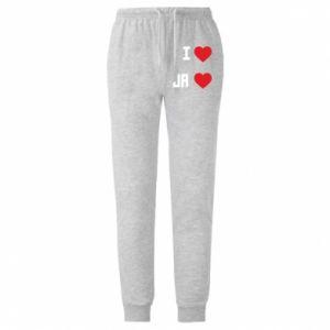 Męskie spodnie lekkie Ja i serce