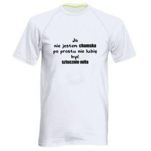 Męska koszulka sportowa Ja nie jestem chamska