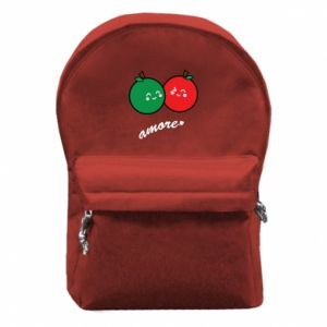 Backpack with front pocket Apples in love - PrintSalon