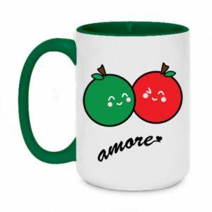 Kubek dwukolorowy 450ml Jabłka w miłości