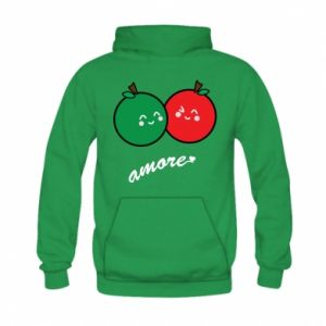 Bluza z kapturem dziecięca Jabłka w miłości