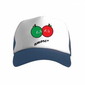 Czapka trucker dziecięca Jabłka w miłości