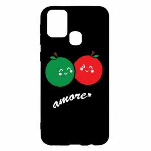 Etui na Samsung M31 Jabłka w miłości