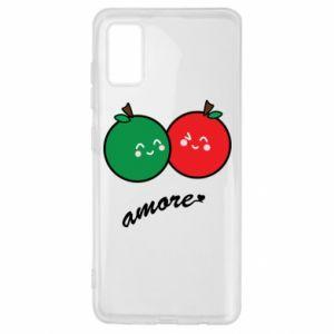 Etui na Samsung A41 Jabłka w miłości