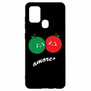Etui na Samsung A21s Jabłka w miłości
