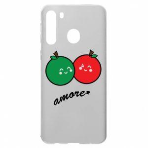 Etui na Samsung A21 Jabłka w miłości