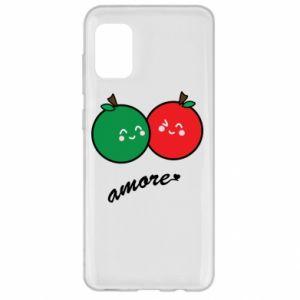 Etui na Samsung A31 Jabłka w miłości