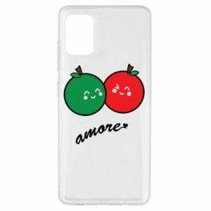 Etui na Samsung A51 Jabłka w miłości