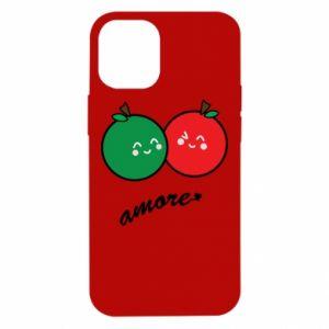 Etui na iPhone 12 Mini Jabłka w miłości