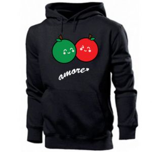 Men's hoodie Apples in love - PrintSalon