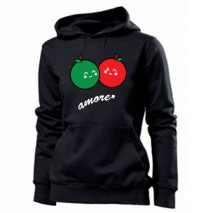 Women's hoodies Apples in love - PrintSalon