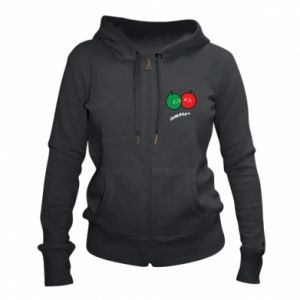 Women's zip up hoodies Apples in love - PrintSalon