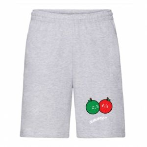 Men's shorts Apples in love - PrintSalon