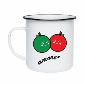 Enameled mug Apples in love - PrintSalon
