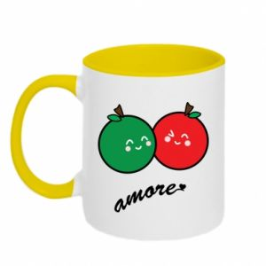 Two-toned mug Apples in love - PrintSalon