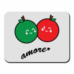 Mouse pad Apples in love - PrintSalon
