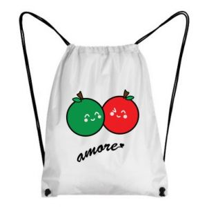 Backpack-bag Apples in love - PrintSalon