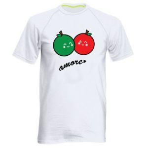 Men's sports t-shirt Apples in love - PrintSalon