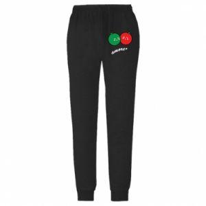 Spodnie lekkie męskie Jabłka w miłości