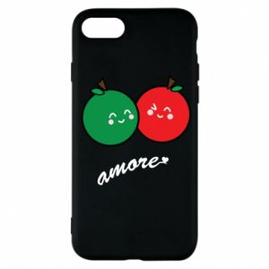Phone case for iPhone 7 Apples in love - PrintSalon