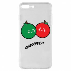 Phone case for iPhone 7 Plus Apples in love - PrintSalon