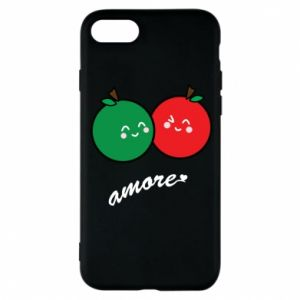 Phone case for iPhone 8 Apples in love - PrintSalon
